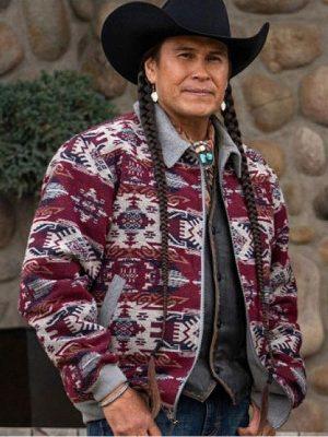 Mo TV Series Yellowstone S04 Moses Brings Plenty Jacket