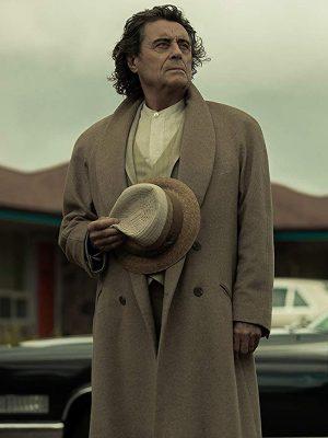 Mr. Wednesday American Gods Ian McShane Wool Trench Coat