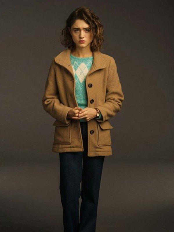 Natalia Dyer Stranger Things Season 3 Nancy Wheeler Wool Jacket