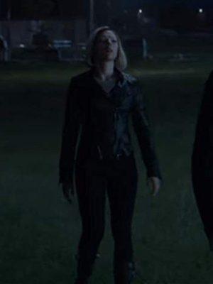 Scarlett Johansson Avengers Endgame 2019 Black Leather Jacket