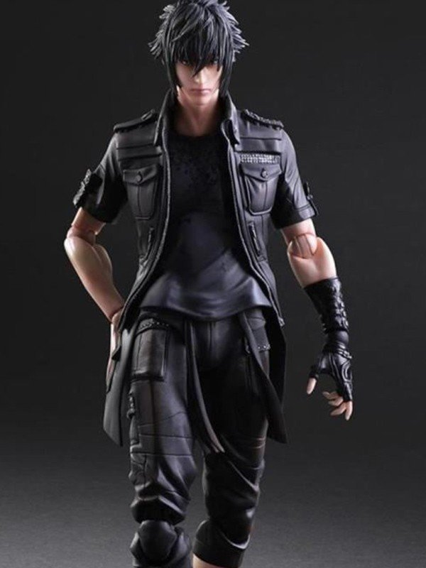 Dissidia Final Fantasy Noctis Lucis Caelum Black Leather Jacket