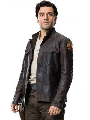 Poe Dameron Star Wars the Last Jedi 2017 Oscar Isaac Leather Jacket
