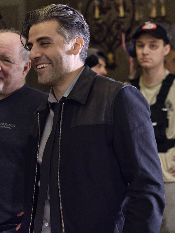William Tell The Card Counter 2021 Oscar Isaac Leather Black Jacket