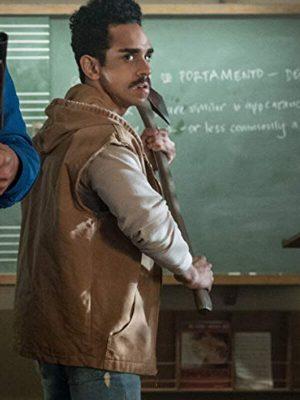 Ray Santiago Ash vs Evil Dead Season 03 Pablo Simon Bolivar Brown Hooded Cotton Vest