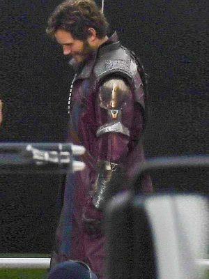 Peter Quill Thor love and Thunder Chris Pratt Maroon Trench Coat