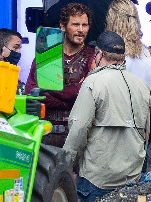 Chris Pratt Thor Love Thunder 2022 Peter Quill Leather Vest
