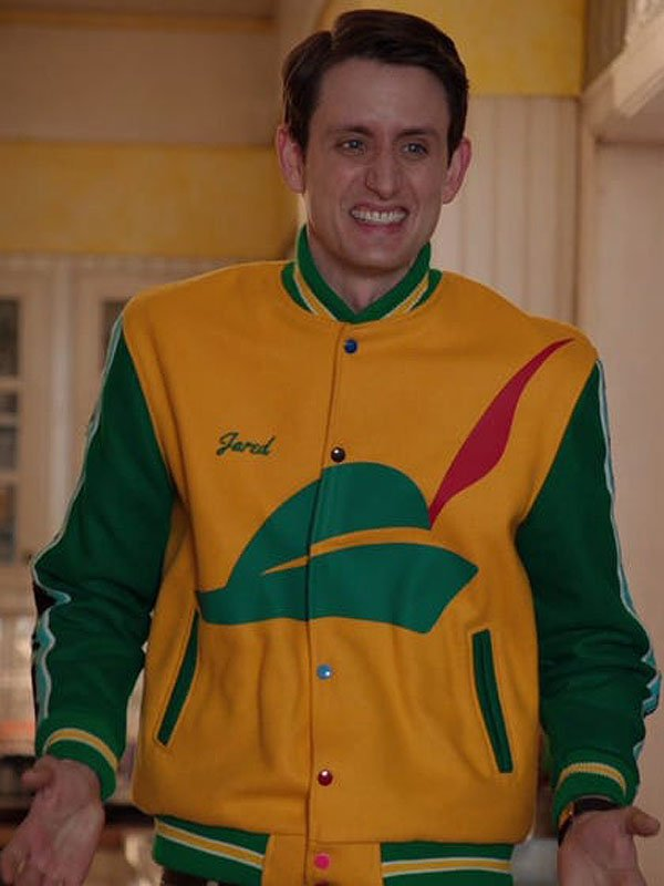 Silicon Valley Pied Piper Green and Yellow Varsity Jacket
