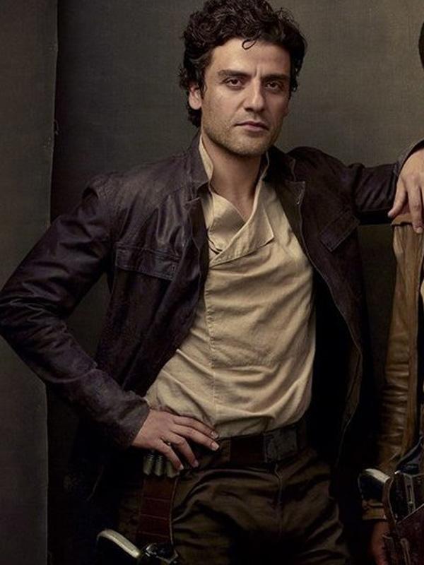 Oscar Isaac Star Wars the Last Jedi 2017 Poe Dameron Brown Leather Jacket