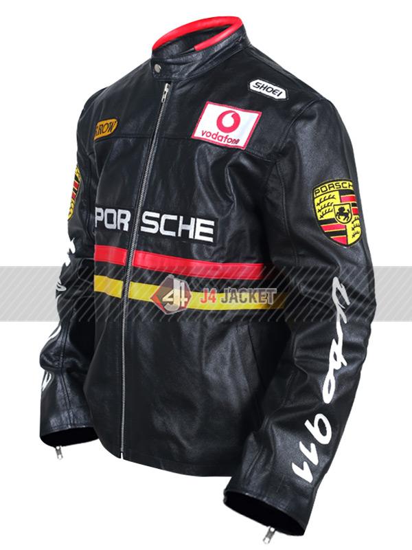 Porsche Racing Motorcycle Black Jacket