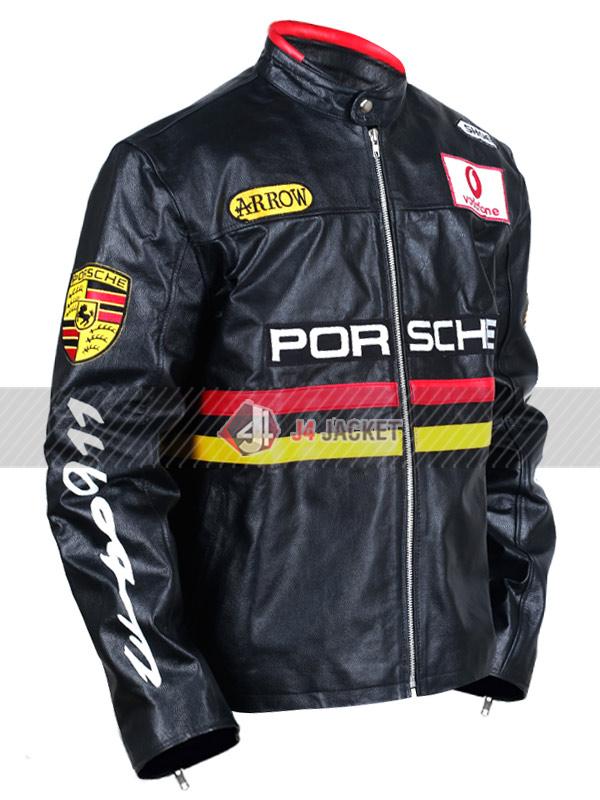 Porsche Racing Motorcycle Leather Jacket