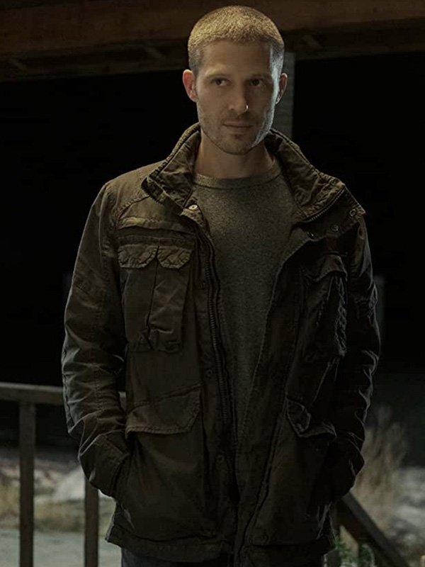 Riley Flynn TV Series Midnight Mass 2021 Zach Gilford Black Cotton Jacket