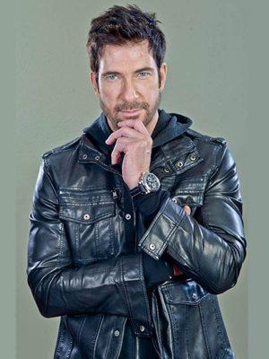 Robert Freezer 2014 Dylan Mcdermott Black Leather Jacket