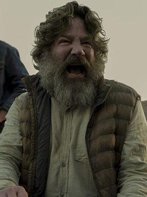 Robert Longstreet TV Series Midnight Mass Brown Puffer Vest