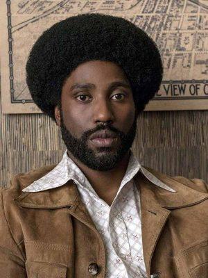 John David Washington Blackkklansman 2018 Brown Suede Leather Jacket