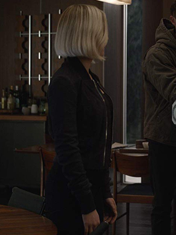 Natasha Romanoff Avengers Endgame 2019 Scarlett Johansson Black Leather Jacket