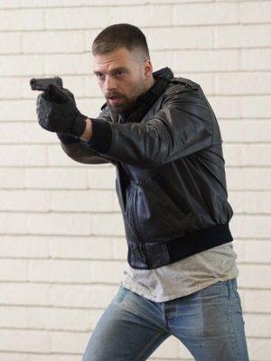 Chris Destroyer Movie 2018 Sebastian Stan Black Leather Jacket