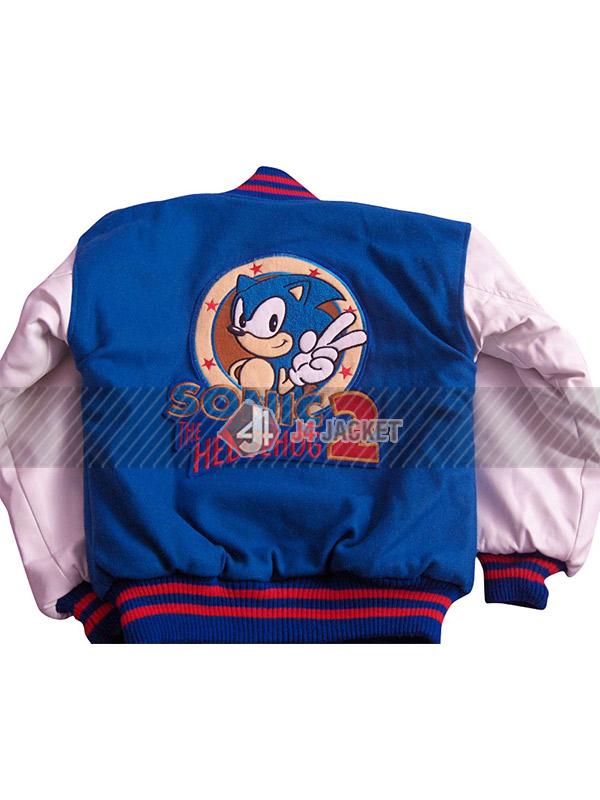 Sonic the Hedgehog Blue White Varsity Jacket
