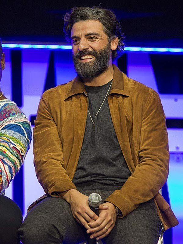 Oscar Isaac Star Wars the Rise of Skywalker Poe Dameron Suede Leather Jacket