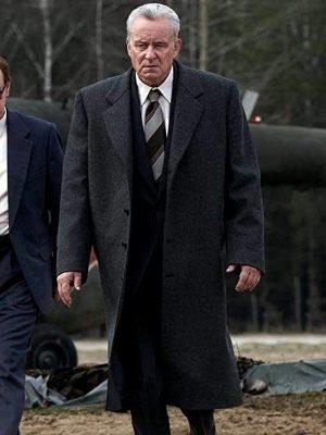 Stellan Skarsgård TV Series Chernobyl Season 01 Boris Shcherbina Wool Coat