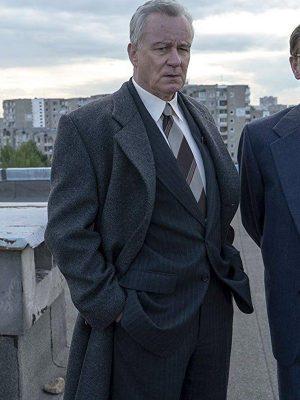 Stellan Skarsgård Chernobyl Season 01 Boris Shcherbina Wool Coat