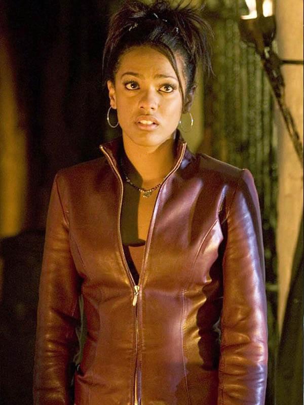 TV Series Doctor Who Freema Agyeman Maroon Jacket