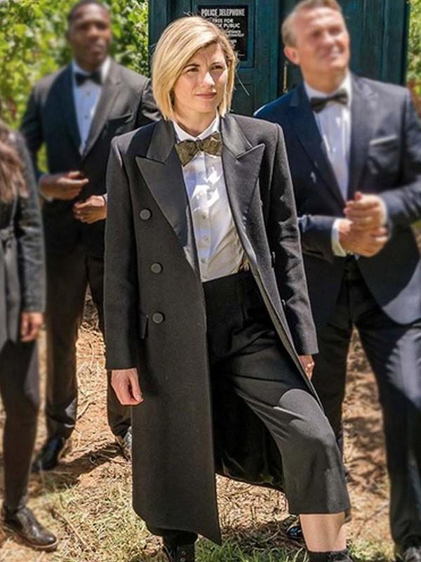 Jodie Whittaker Doctor Who Season 12 Black Trench Coat