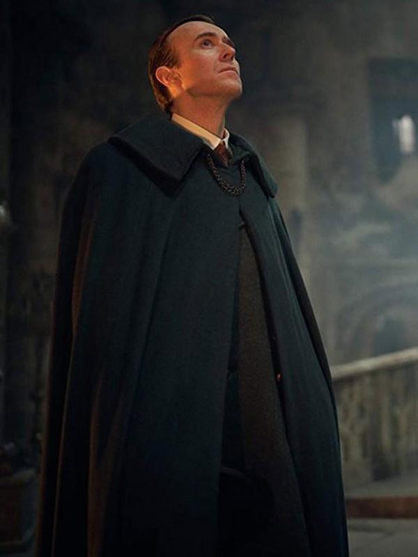 TV Series Dracula Claes Bang Black Wool Cape Coat