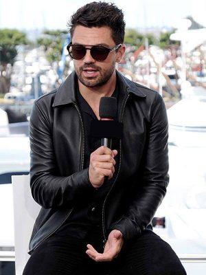 TV Series Preacher Jesse Custer Dominic Cooper Black Leather Jacket