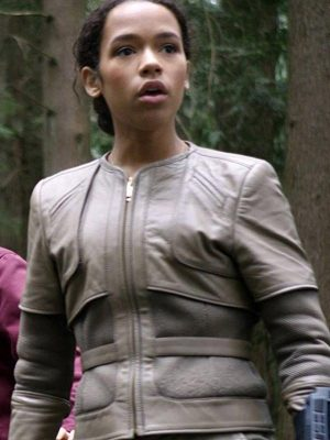 Judy Robinson Lost in Space Taylor Russell Grey Leather Jacket