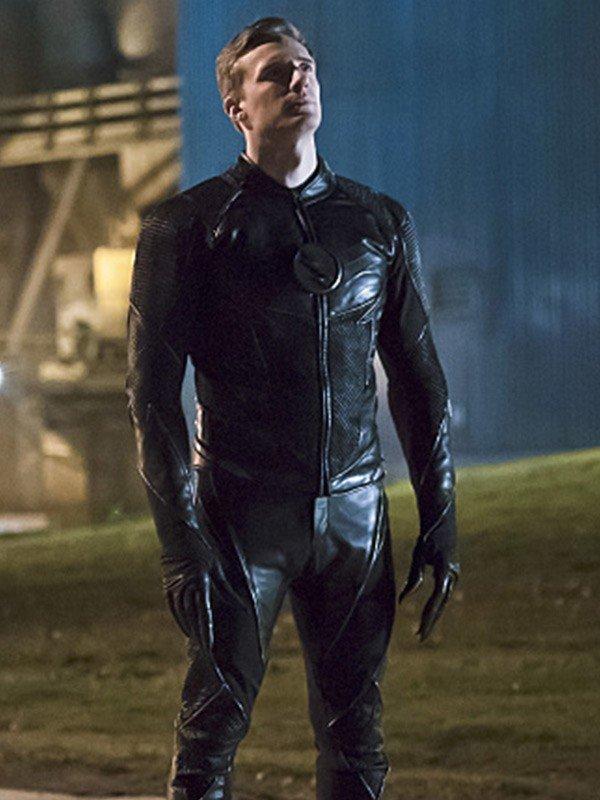Hunter Zolomon TV Series The Flash Teddy Sears Black Leather Jacket