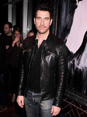 Dylan McDermott The Host Movie Black Leather Jacket