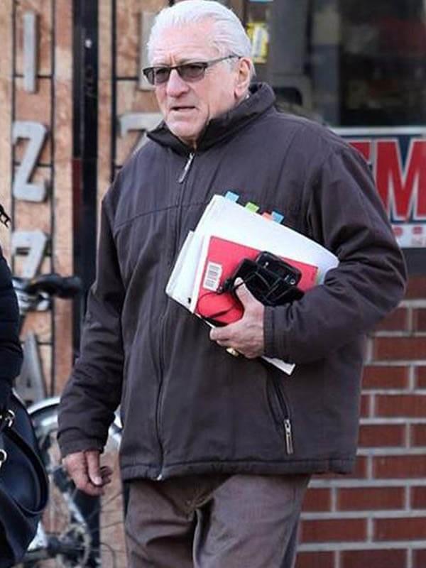 Robert De Niro The Irishman Frank Sheeran Brown Cotton Jacket