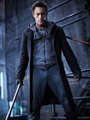 Aaron Eckhart I Frankenstein 2014 The Monster Wool Trench Coat