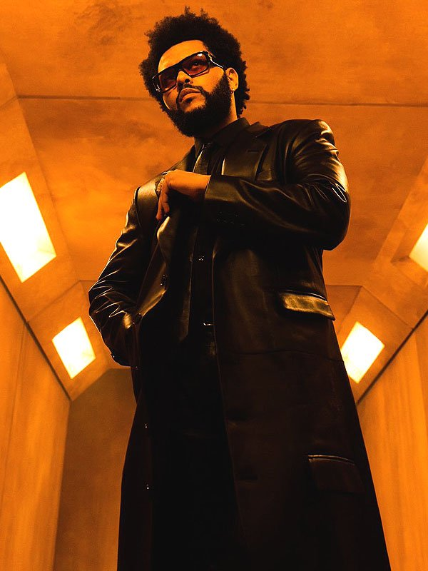 The Weeknd Take My Breath Black Leather Trench Coat