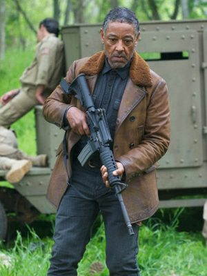Tom Neville TV Series Revolution Giancarlo Esposito Shearling Leather Jacket