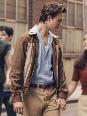 Tony West Side Story 2021 Ansel Elgort Cotton Jacket