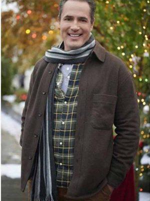 Five Star Christmas 2020 Victor Webster Brown Wool Jacket