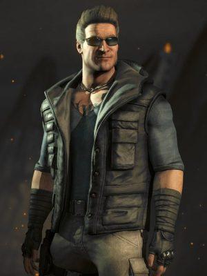 Video Game Mortal Kombat X Johnny Cage Hoodie Vest