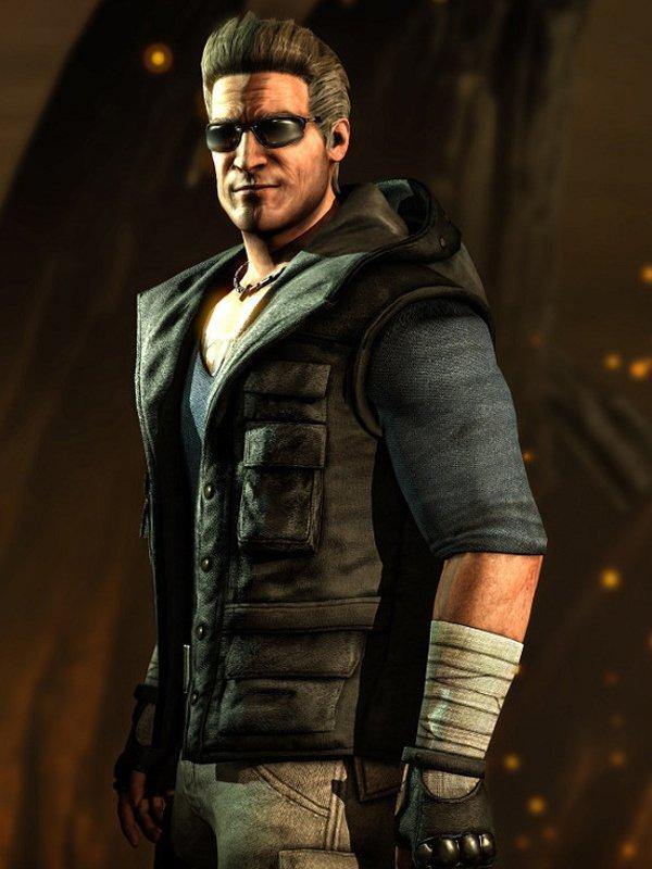 Video Game Mortal Kombat X Johnny Cage Black Hoodie Vest