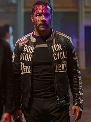 Jeremy Piven American Night 2021 Vincent Black Leather Jacket