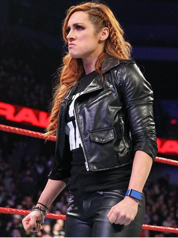 WWE Wrestler Becky Lynch Motorcycle Black Jacket