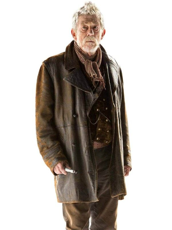 Doctor Who John Hurt Distressed Brown Leather Trench Coat