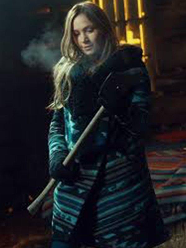 Wynonna Earp S04 Dominique Provost-Chalkley Shearling Wool Coat