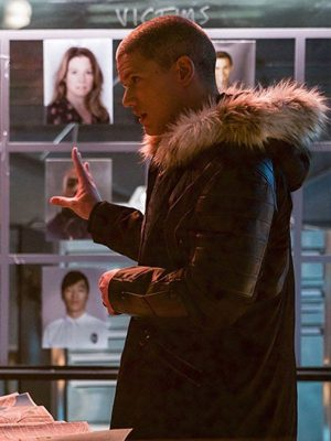 Wentworth Miller Crisis on Earth X Black and Blue Parka Jacket