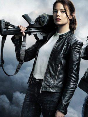 Emma Stone Zombieland Double Tap Wichita Black Leather Jacket