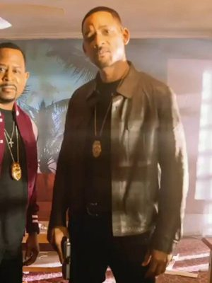Bad Boys For Life 2020 Will Smith Black Leather Jacket